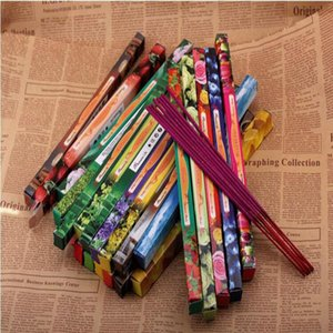 موضة لون جديد ميكس اليدوية دارشان دخان البخور عصا البخور البخور العصي متعددة 8PCS العطر = 1 صندوق صغير DHL