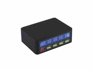 Quick Charge 3.0 Smart Power Adapter Station with Lcd Display and 5 Port USB Charger