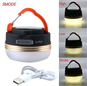 Lightweight 300LM 3W Magnetic LED USB Rechargeable Camping Outdoor Light LED Lantern Tent Lamp Lanterna Flexible Handle