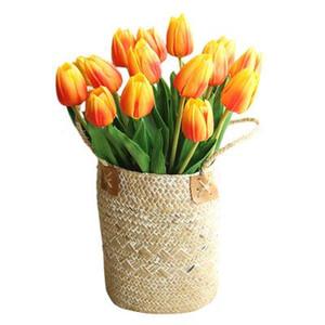 Тюльпаны искусственный PU цветок 35 см искусственные растения для украшения дома свадебные декоративные цветы 19 цветов вариант