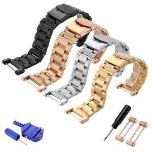 T-AMQ 24 milímetros para aço inoxidável Suunto Core Assista bracelete Banda Watchband + PVD Adaptadores + Parafusos de prata preto Rosa de Ouro Pulseira-49