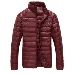 New Men Winter Jacket Ultra Light 90% White Duck Down Jackets Casual Portable Winter Coat for Men Plus Size Down Parkas