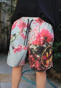 Beach Shorts 2020ss tie-dye Pantaloncini Uomo Donna stampa floreale casuale Pantaloncini HipHop Peach