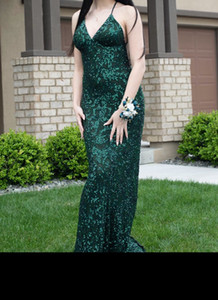 Blingbling Sequins Prom Dresses 2020 Sleeveless Mermaid Plunging V Neck Black Girl Prom Dresses Evening Party Bridesmaid Gowns