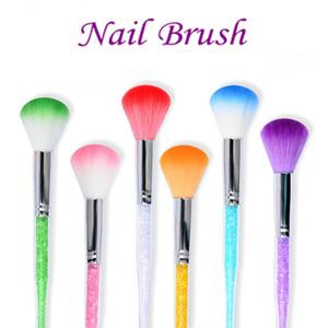 Алмазная кисточка для ногтей Удалить пыль для ногтей Nail Art Dust Cleaner Маникюрная щетка для очистки ногтей Art Tools HHA348