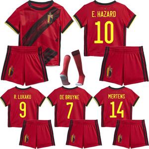 European Cup 2020 Bélgica PERIGO Lukaku MERTENS criança jérsei de futebol 2020 2021 Vermaelen De Bruyne Nainggolan crianças kits de Futebol uniforme