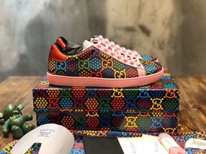 HOT sale 2020 New Women's Psychedelic Ace sneaker classic sneakers magic fashion luxury designer man shoes top quality with box 35-46