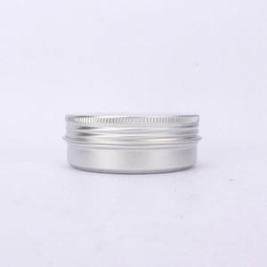 Crema di alluminio del contenitore di latta di metallo da 60 ml Pentola del barattolo con la finestra visibile della finestra della finestra Scatole cosmetiche vuote DHB666