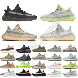Adidas yezzy boost 350 v2 kanye west New men women Transpirable prestos Blackout Barato Sneaker Rojo Azul Marino Triple Blanco Negro Fall Olive Athletic Shoes SZ36-45