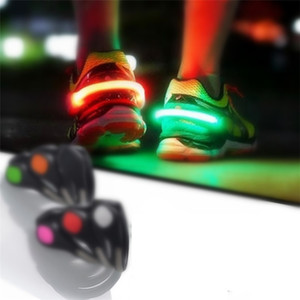 Led Light Safety Warning Shoe Clip LED Flash Light For Running Cycling Bike Useful Outdoor Tooks LED Luminous Kids T9I00287