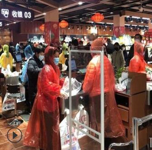 Isolation disposable raincoat has a sealed hat rope cuff tightening design Outdoor press deduction two styles 310