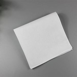 Pure White HANKERCHIEFS 100% coton Mouchoirs 28cm * 28cm Pocket Place mariage bricolage Plaine Imprimer Dessiner Mouchoirs