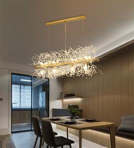 Nordic Lenght Gold Chrome Metal Crystal Chastelier Подвеска Лампа Креативное Украшение Дома Гостиная Освещение PA0569