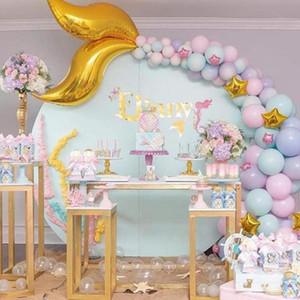 42pcs Русалка Стиль партии Balloon Chain Set Mermaid Tail Styling латексные шары Свадьба Baby Shower Birthday Party Decoration