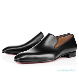 Brandr Red Bottom Mocassins luxe de soirée de mariage chaussures Designer cuir verni noir Robe Daim pour Slip Hommes Flats c8 c30