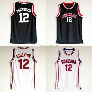 NCAA Оскар Робертсон Джерси 12 Университет Цинциннати Баскетбол Bearcats колледжа Джерси мужчин черный цвет дышащий Для любителей спорта Продажа