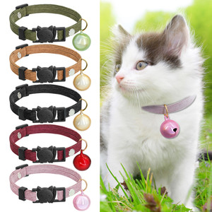 Cute Cat Collar Safety Break Away Kitten Cats Collars With Bell Quick Release Puppy Pet Collar collier chat for Chihuahua