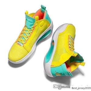Мужская Jumpman XXX4 ретро 34s баскетбольная обувь aj34 лимонад Джейсон Татум неоновый зеленый желтый 2020 новый мамба Брайант кроссовки теннис с коробкой