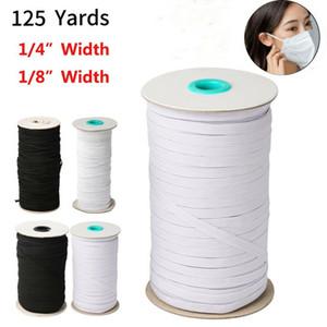100 Yards Length Black White DIY Braided Elastic Band Cord Knit Band Sewing 1 8 1 4 inch