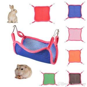 2019 Home Breathable Mesh Hammocks 6 Colors Squirrel Hammock Summer Outdoor Squirrel Small Mesh Hammock Cute Pet Square DH1062