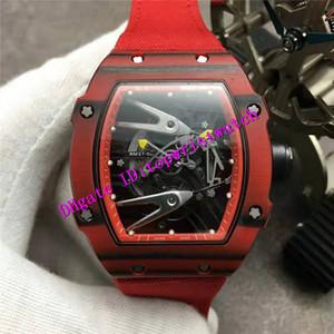 Scheletro in fibra di carbonio Top RM27-02 Orologio di lusso Tonneau NTPT Mens Sport Watch meccanico automatico svizzero Quadrante Zaffiro Impermeabile