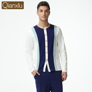 Qianxiu Pijama hombre Männer Kintted Modal Baumwolle Markenkleidung Plus size Pyjamas Mann