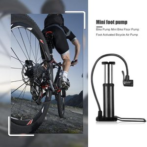 Portable Cycling Mini Portable Bicycle Floor Pump Foot Activated Outdoor Aluminum Alloy Bike Tire Ball Pump Air Inflator