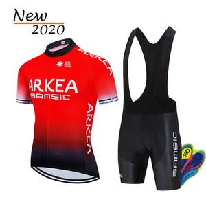 Лето 2020 Pro ARKEA задействуя Джерси Set MTB Одежда флуоресцентная зеленая одежда Велосипед Майо Ropa Ciclismo Мужчины Велоспорт Set