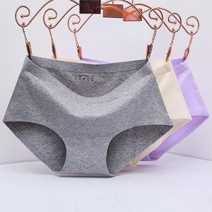 women underwears panties New Process Intimates Cotton Women's Panties Non-trace Seamless Underwear Ms in waist Sexy Natural Cotton Briefs
