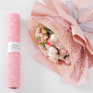 50CM * 5Y 12 cores flor coreana Embrulho malha DIY Kraft Paper Bouquet Florista fontes do casamento Decorationn Embalagem Craft material