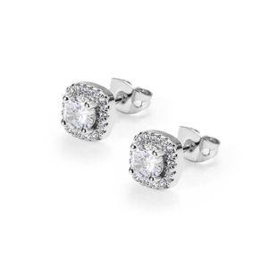 Men Round Earrings Earings Earrings Hip Hop Luxury Mens Jewelry Fashion Stud Gold Silver Black Diamond Women Designer Rings Ear 2021 Faddt