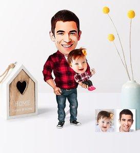 Fathers Day Custom Santa Claus Girl Cartoon Wooden Trinket-2 Pet Supplies Home Garden