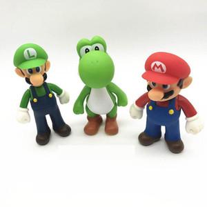 3 스타일 슈퍼 마리오 브라더스 장난감 새로운 만화 게임 마리오 루이지 요시 액션 그림 슈퍼 마리오 PVC 선물 장난감 아이의 경우