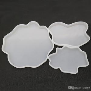 Akik Geode Altlıkları Silikon Kalıplar Epoksi Reçine Kalıp Drinkware Coaster Kalıplar DIY hazırlama Resinart 3 Boyut