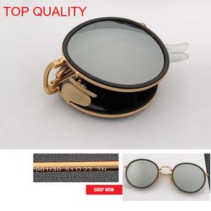 2019 الجملة أعلى جودة جديد أزياء فخمة جولة للطي فلاش نظارات شمسية الإطار المعدني النساء ريترو rd3517 دائرة gafas نظارات الشمس الوردي