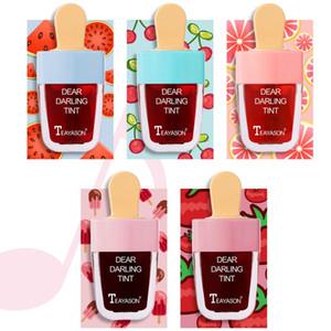 TEAYASON 5 fresh fruit ice cream, scrub, liquid lip gloss, summer lipstick, non-stick cup, ice cream, makeup tools for lip cream