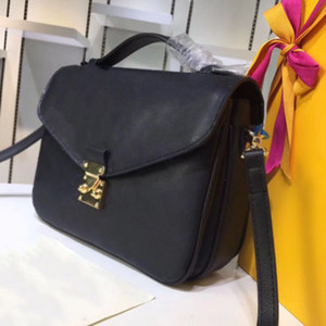 flor de la impresión clásica bolsa de mensajero real mujeres bolso de cuero Pochette Metis totalizadores bolsos del monedero de los bolsos de hombro Bolsas Cruzado M40780