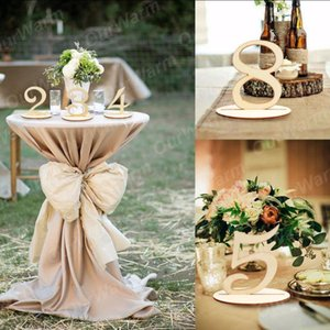 New Design 10pcs Set Wooden Table Numbers Holder Rustic Wedding Birthday Party Banquet Table Decoration Event Party Supplies