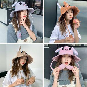 لطيف المرأة آذان صياد قبعة قرصة تتحرك القط أفخم الكرتون آذان أرنب قبعة في الاطفال الكبار السفر قبعة الشمس TTA1454
