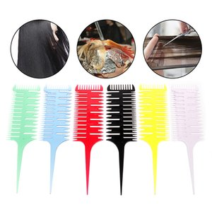 Professionelle webbutton Comb Salon Haarfärbung Comb 3-Way Sectioning Highlight Combs Pinsel Styling-Werkzeug