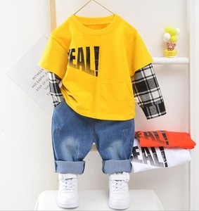 Boys' suit spring and autumn 2020 new Korean version leisure children baby children spring clothes boys go out two piece sets
