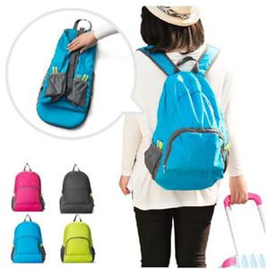 Viagem Outdoor Sacos portáteis Folding Waterproof Backpack Esporte Bag equitação armazenamento Mochila Camping Mochila 5 cores LJJZ522