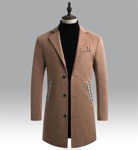 Solid Color Mens Designer Mäntel Formal Business Plus Größe Winterjacke Einreiher Lange Styles Coats