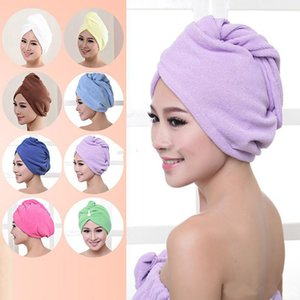 Hair Turban Towel Women Super Absorbent Shower Cap Quick-drying Towel Microfiber Hair Dry Bathroom Hair Cap Cotton 60*25cm dc034