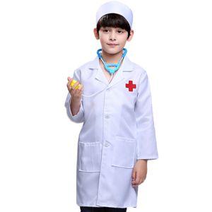 90/110/130 Cm Children Doctor Enfant Play Toys 간호원 전문의 역할 닥터 + 모자와 의상 긴 소매 재생