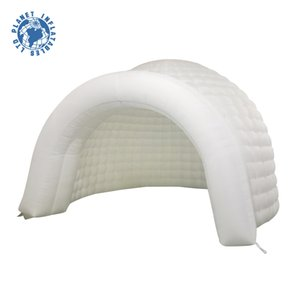 weiße kalte Luft im Freien weißer Durchmesser 4m Aufblasbares Igluzelt, das aufblasbares Kuppelzelt des aufblasbaren Standzeltes für Partei annonciert