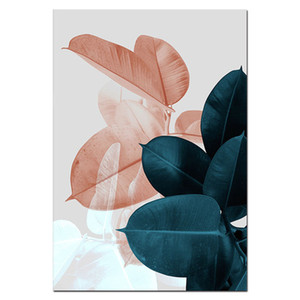 Muro Immagini per il salone Foglia Cuadros Picture Nordic poster floreale di arte della parete della tela di canapa Pittura Botanica Posters e Stampe