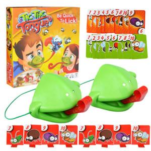 Langue Tic-Tac Chameleon grenouille bouche Prenez la carte langue drôle Jeu de société pour Family Party Toy Be Quick Lécher Cartes Toy Set Y200428