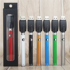 Twist vorheizen VV Knopf Evod Vape Pen anpassen Battery Kit mit USB-Ladegerät Vorglühen 380mAh Variable Voltage 510 Gewinde Vaporizer Cartridge