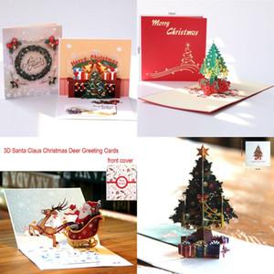 تحية بطاقة 3D المنبثقة زينة عيد الميلاد شجرة عيد الميلاد عطلة بطاقة لعيد الميلاد السنة الجديدة الطفل هدايا بطاقات معايدة